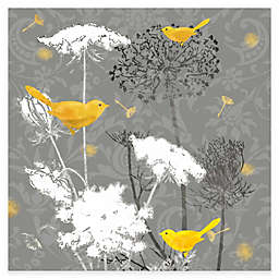 Courtside Market Grey and Gold FInch II 16-Inch x 20-Inch Canvas Wall Art