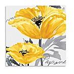 Courtside Market Yellow Poppy I Canvas Wall Art
