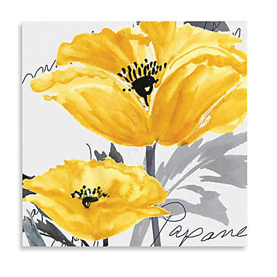 Courtside Market Yellow Poppy I Canvas Wall Art