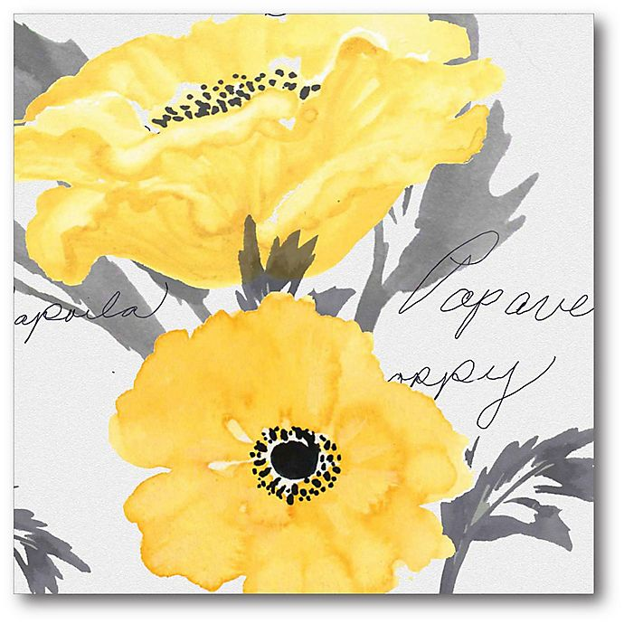 Alternate image 1 for Courtside Market Yellow Poppy II Canvas Wall Art