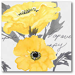 Courtside Market Yellow Poppy II Canvas Wall Art