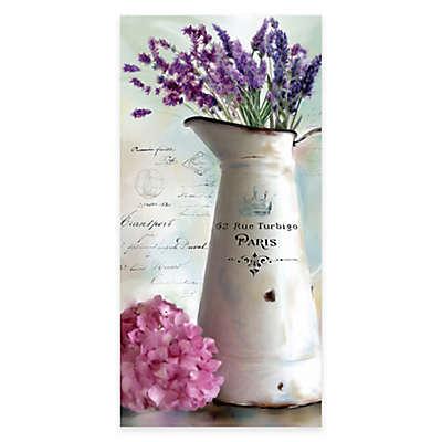 Courtside Market Lavender Vintage Floral I Canvas Wall Art