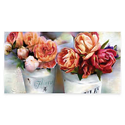 Courtside Market Orange Vintage Floral II Canvas Wall Art