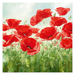 Courtside Market Red Poppies Canvas Wall Art