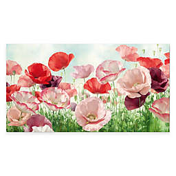 Courtside Market Red and Pink Poppies Canvas Wall Art