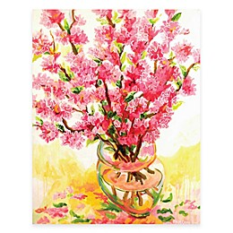Courtside Market Fresh Pink Vase Canvas Wall Art