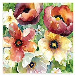 Courtside Market Watercolor Flowers II Floral Canvas Wall Art