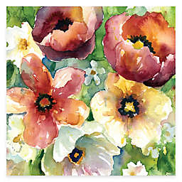 Courtside Market Watercolor Flowers II Floral 16-Inch x 16-Inch Canvas Wall Art