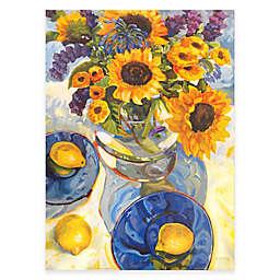 Courtside Market Sunflower & Lemons Floral 16-Inch x 20-Inch Canvas Wall Art