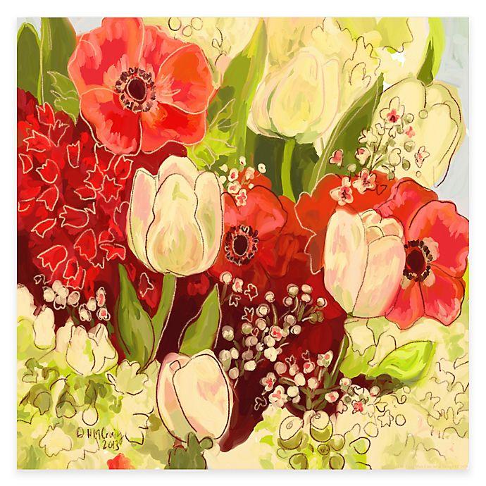 Alternate image 1 for Courtside Market Garden Bouquet II Canvas Wall Art