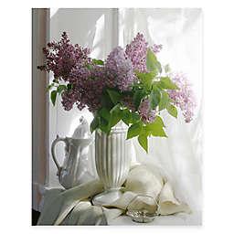 Courtside Market Purple Flower Vase II Canvas Wall Art