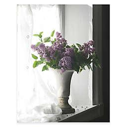 Courtside Market Purple Flower Vase Canvas Wall Art