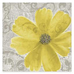 Courtside Market Flower Yellow Poppy 16-Inch x 20-Inch Canvas Wall Art