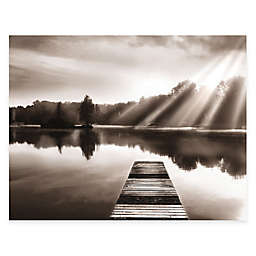 Courtside Market Lake Dock Canvas Wall Art