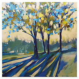 Courtside Market Blue Shadow Tree Canvas Wall Art