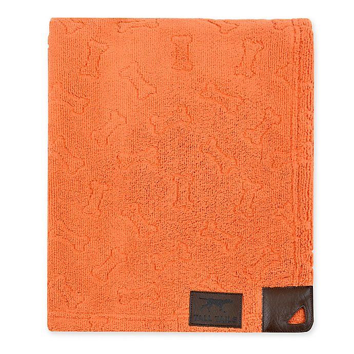 Microfiber Towels Bed Bath And Beyond: Tall Tails® Microfiber Bone Print Grooming Towel In Orange