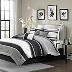 Madison Park Blaire 7-Piece King Comforter Set in Grey