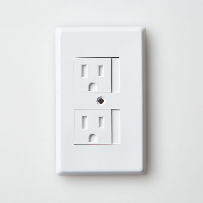 Alternate image 1 for Mommy's Helper™ White Safe-Plate™ Standard Outlet Cover