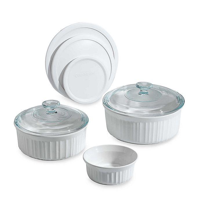 Alternate image 1 for CorningWare® French White® 8-Piece Bakeware Set