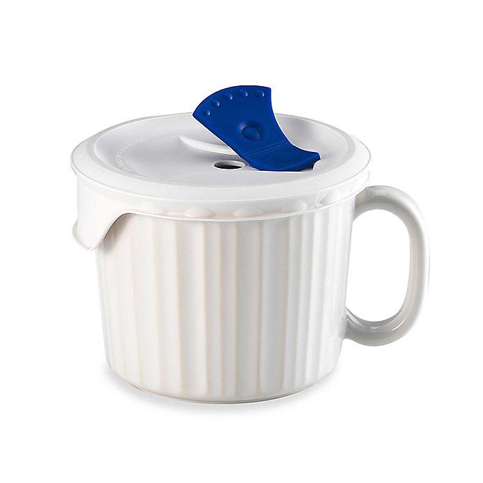 Alternate image 1 for CorningWare® 20-Ounce Mug with Venting Plastic Cover