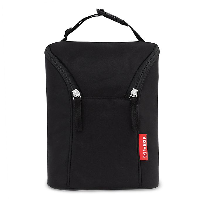 Alternate image 1 for SKIP*HOP® Grab & Go Double Bottle Bag in Black
