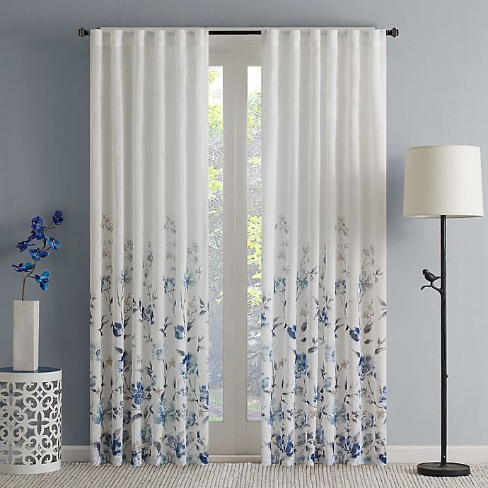 Alternate image 1 for Regency Heights Isla Floral Sheer Rod Pocket Window Curtain Panel