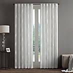 Regency Heights Aria Stamp Sheer 84-Inch Rod Pocket Window Curtain Panel in White
