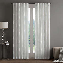 Regency Heights Aria Stamp Sheer Rod Pocket Window Curtain Panel