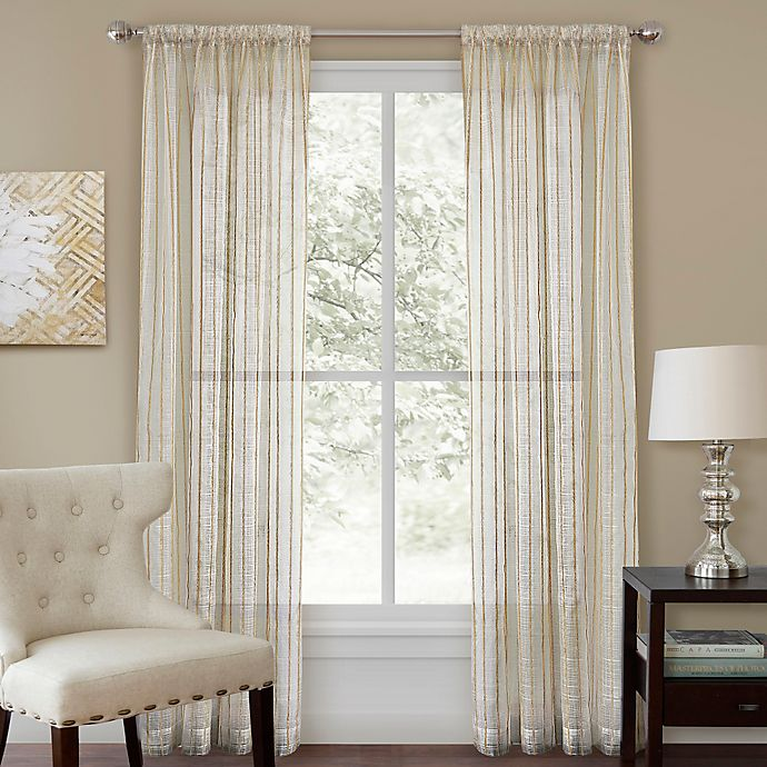 Alternate image 1 for Firna 108-Inch Sheer Rod Pocket Window Curtain Panel in Natural