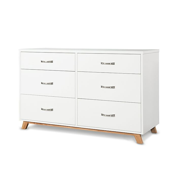 Alternate image 1 for Child Craft™ SOHO 6-Drawer Double Dresser in White/Natural