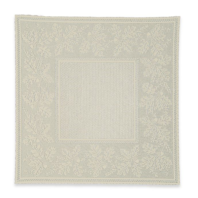 Alternate image 1 for Heritage Lace® Oak Leaf Lace Table Topper in Cafe