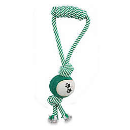 Pull Away Pet Rope and Tennis Ball in Green