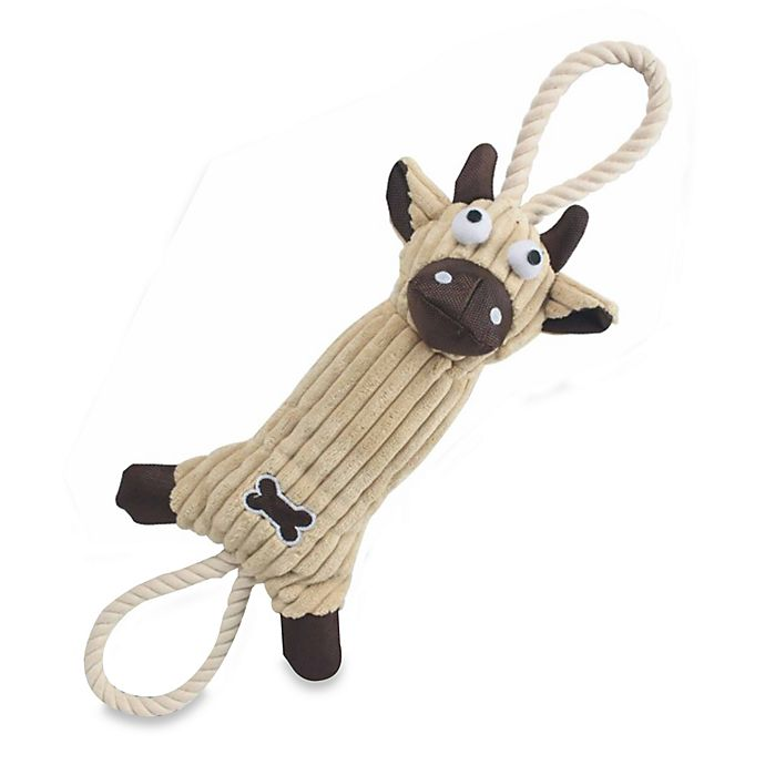 Alternate image 1 for Jute and Rope Plush Cow Pet Toy