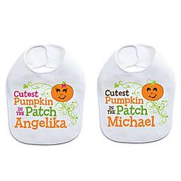 """Cutest Pumpkin in the Patch"" Halloween Bib"