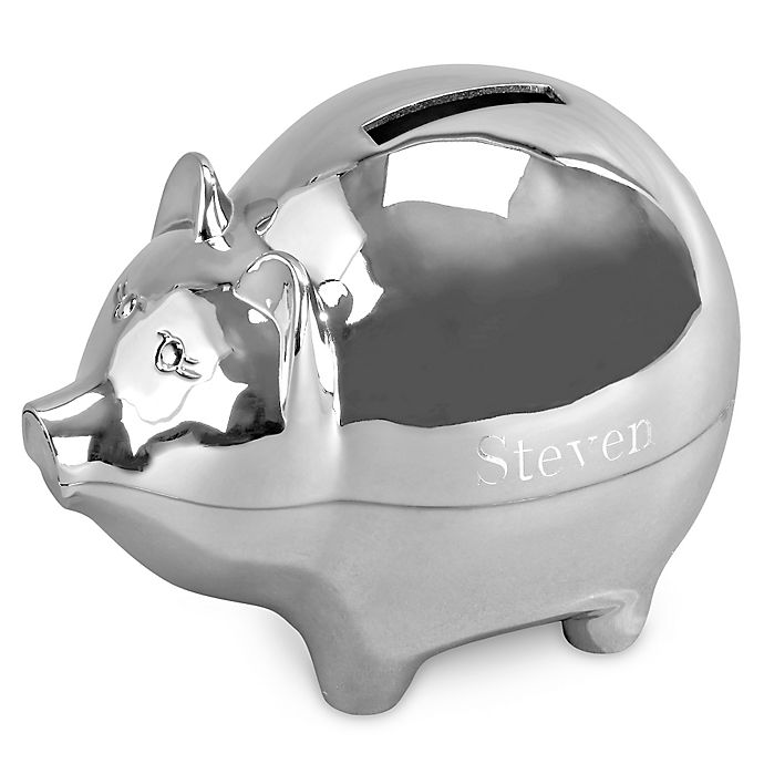 Alternate image 1 for Large Piggy Bank in Silver