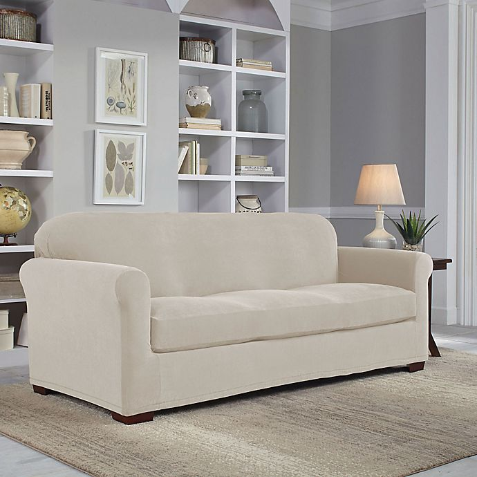 Perfect Fit® Easy Fit 2-Piece Sofa Slipcover | Bed Bath & Beyond