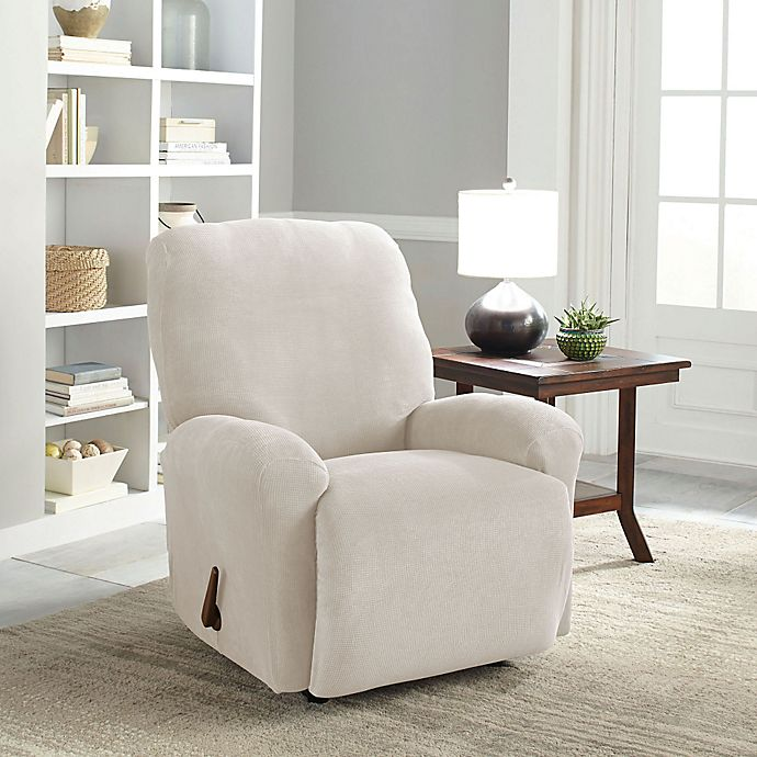 Groovy Perfect Fit Easy Fit Recliner Slipcover Bed Bath Beyond Ibusinesslaw Wood Chair Design Ideas Ibusinesslaworg