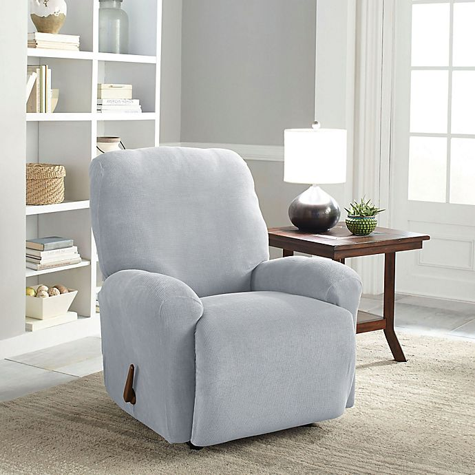 Alternate image 1 for Perfect Fit® Easy Fit Recliner Slipcover in Grey