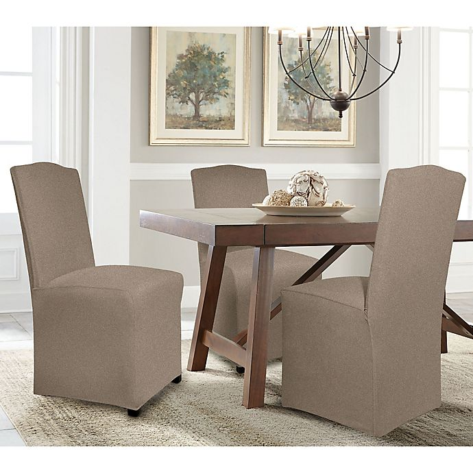 Alternate image 1 for Perfect Fit® Reversible Solid to Solid Parsons Chair Slipcover