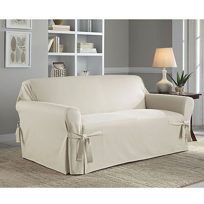 Alternate image 1 for Perfect Fit® Classic Relaxed Fit Loveseat Slipcover in Parchment