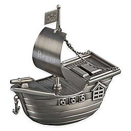 Pirate Ship Bank in Pewter