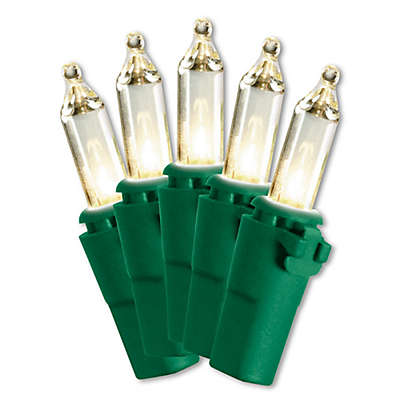 National Tree Illuminate 50-Count Incandescent Miniature Light Set with Clear Bulbs and Green Wire