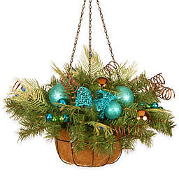 National Tree Company Decorative Collection 22-Inch Peacock Hanging Basket
