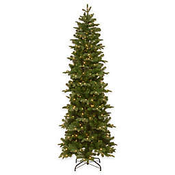 National Tree Company 7.5-Foot Prescott Pre-Lit Pencil Christmas Tree with Clear Lights