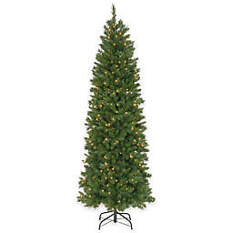 National Tree 7.5-Foot Pre-Lit Pennington Fir Hinged Pencil Christmas Tree