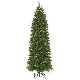 National Tree 7.5-Foot Pre-Lit Pennington Fir Hinged Pencil Christmas Tree