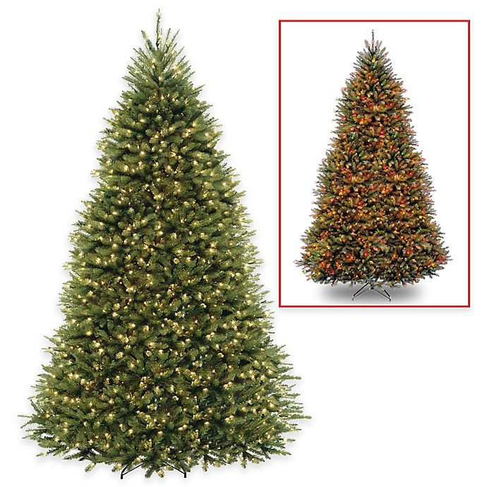 Alternate image 1 for National Tree Dunhill Fir Christmas Tree with PowerConnect™ Dual Color® Lights
