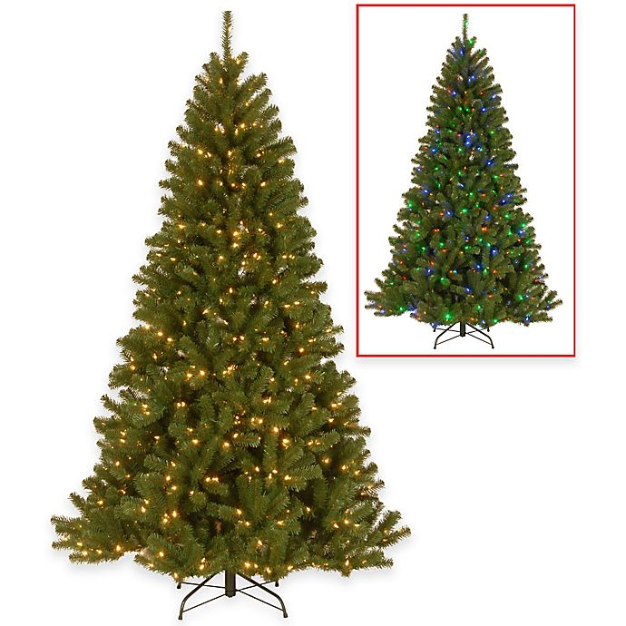 Alternate image 1 for National Tree Company North Valley Spruce Pre-Lit Christmas Tree w/Dual-Color LEDs