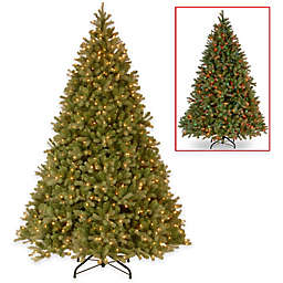 National Tree 9-Foot Downswept Douglas Fir Christmas Tree with PowerConnect™ and Dual Color Lights