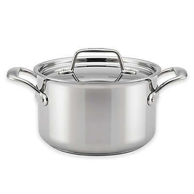 Breville® Thermal Pro™ Clad Stainless Steel 4-Quart Covered Saucepot